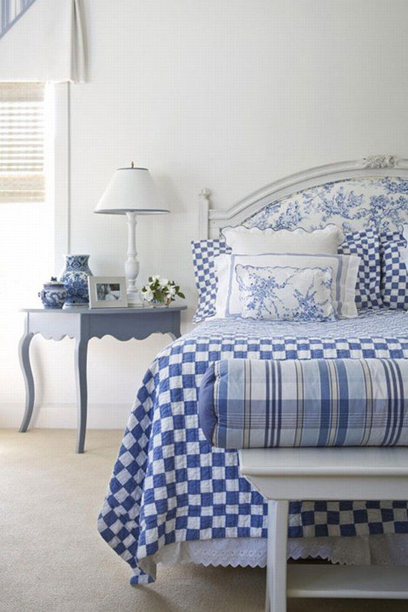 Best ideas about Blue And White Bedroom . Save or Pin Bedroom Ideas In Duck Egg Blue HOME DELIGHTFUL Now.