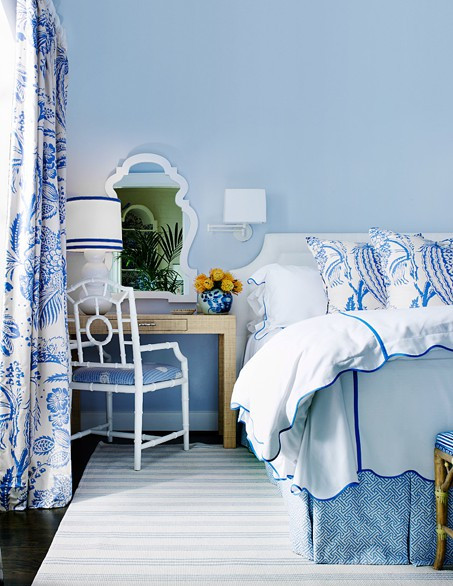 Best ideas about Blue And White Bedroom . Save or Pin The Glam Pad Beautiful Blue and White Bedrooms Now.