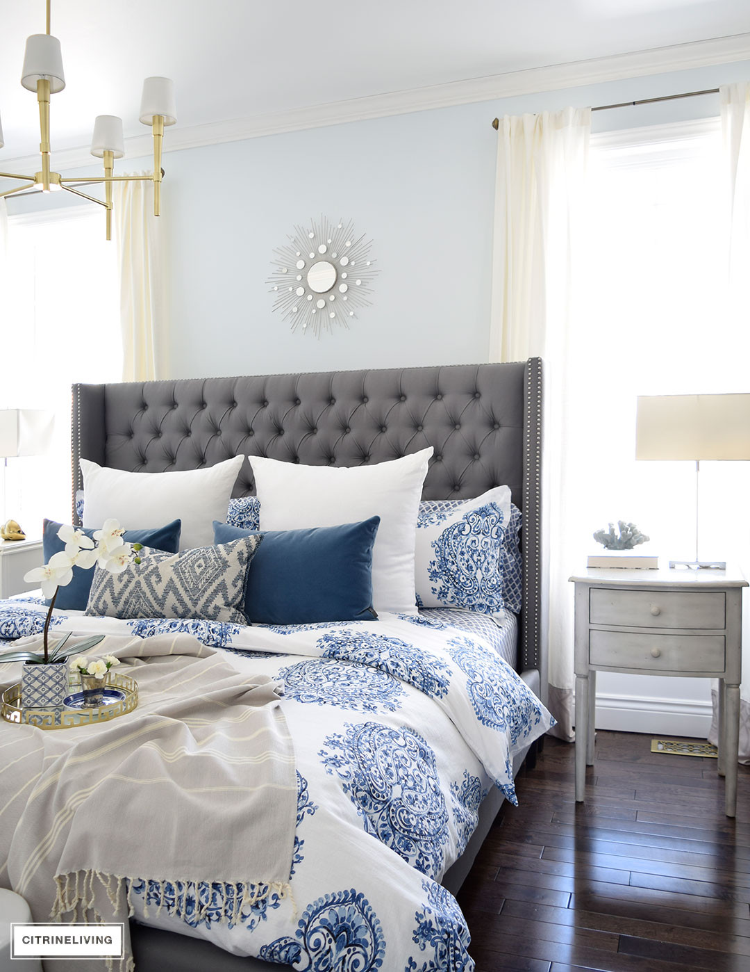 Best ideas about Blue And White Bedroom . Save or Pin CITRINELIVING SPRING IN FULL SWING HOME TOUR 2017 Now.