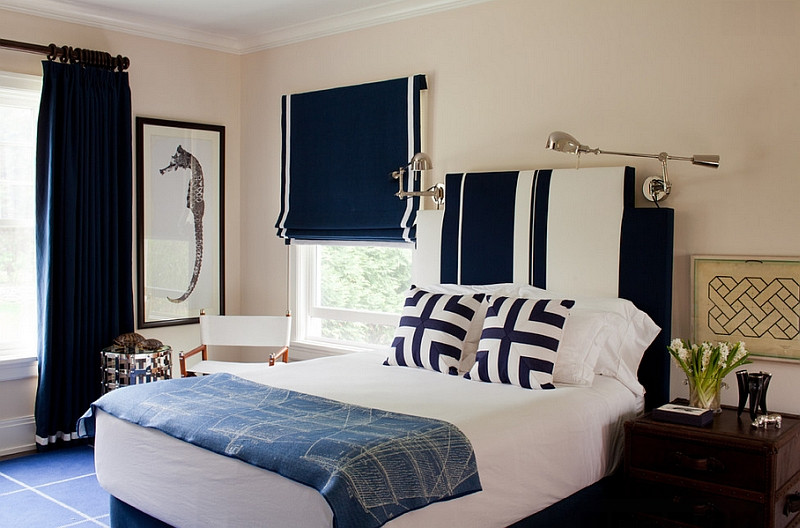 Best ideas about Blue And White Bedroom . Save or Pin Blue And White Interiors Living Rooms Kitchens Bedrooms Now.
