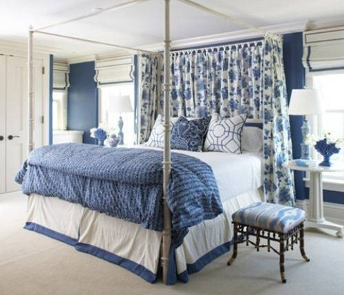 Best ideas about Blue And White Bedroom . Save or Pin Blue and White Bedroom Design Now.