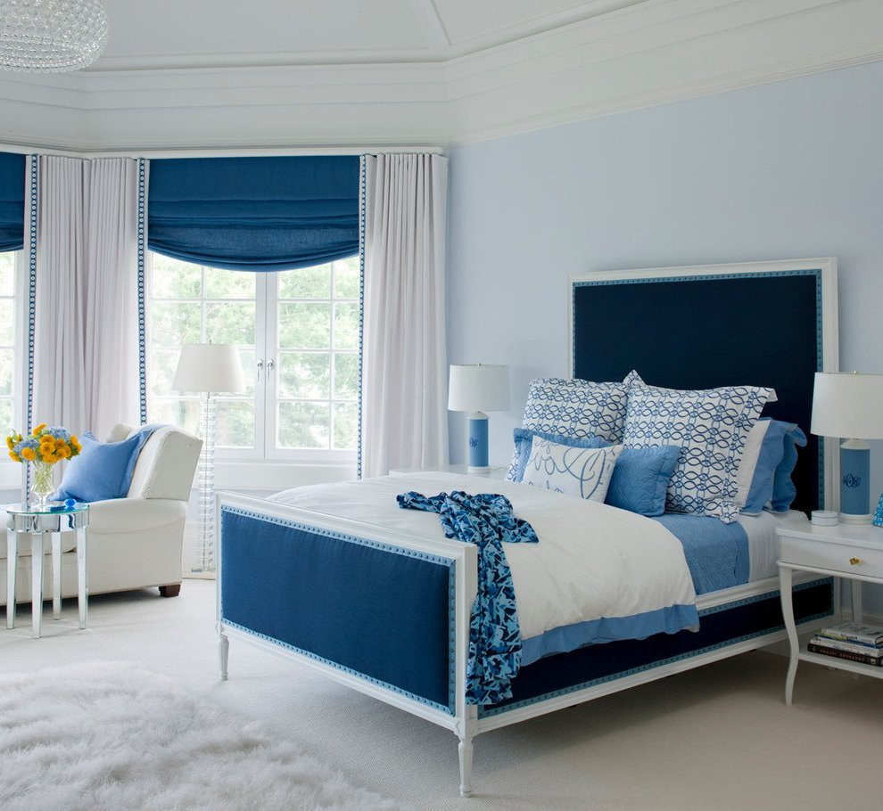 Best ideas about Blue And White Bedroom . Save or Pin Your Bedroom Air Conditioning Can Make or Break Your Decor Now.