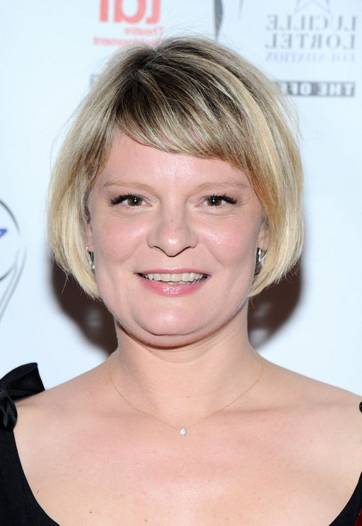 Best ideas about Bob Hairstyles With Side Bangs . Save or Pin Martha Plimpton Short Bob Haircut with Side Swept Bangs Now.