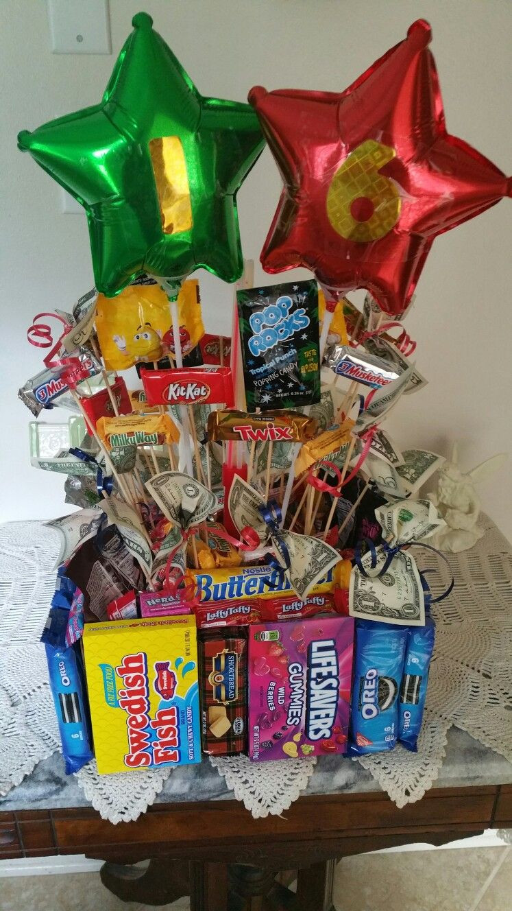 Best ideas about Boy Birthday Gifts Ideas . Save or Pin Candy Bouquet Boys 16th Birthday Now.