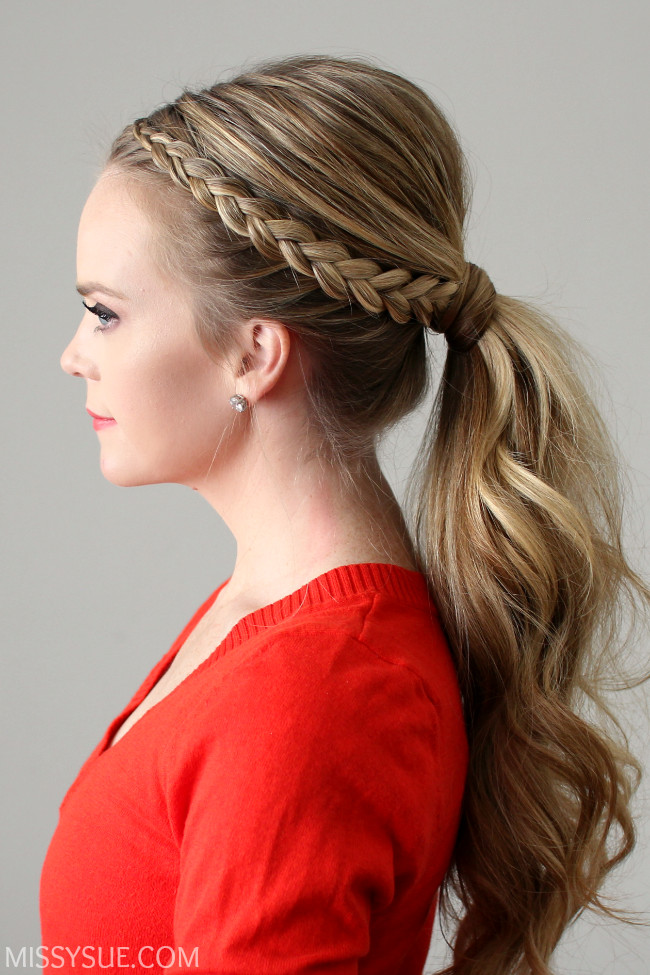 Best ideas about Braid Ponytail Hairstyles . Save or Pin Dutch Lace Braid Ponytail Now.
