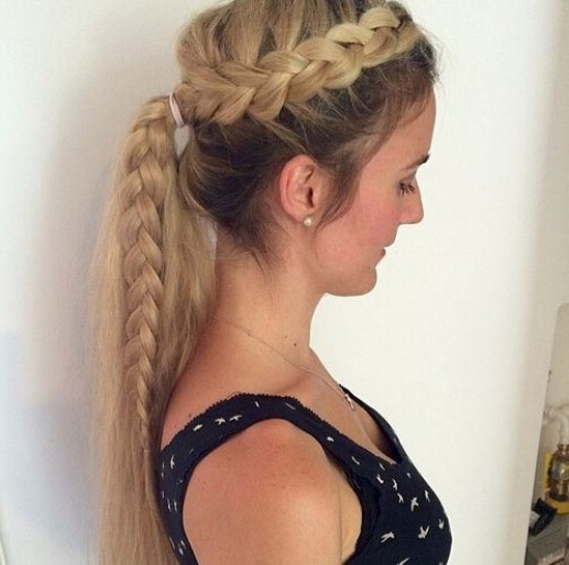 Best ideas about Braid Ponytail Hairstyles . Save or Pin 15 Adorable French Braid Ponytails for Long Hair PoPular Now.