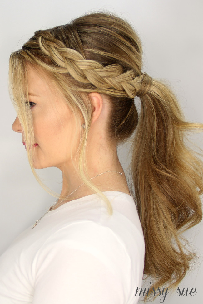 Best ideas about Braid Ponytail Hairstyles . Save or Pin 3 Easy Summer Hairstyles Now.