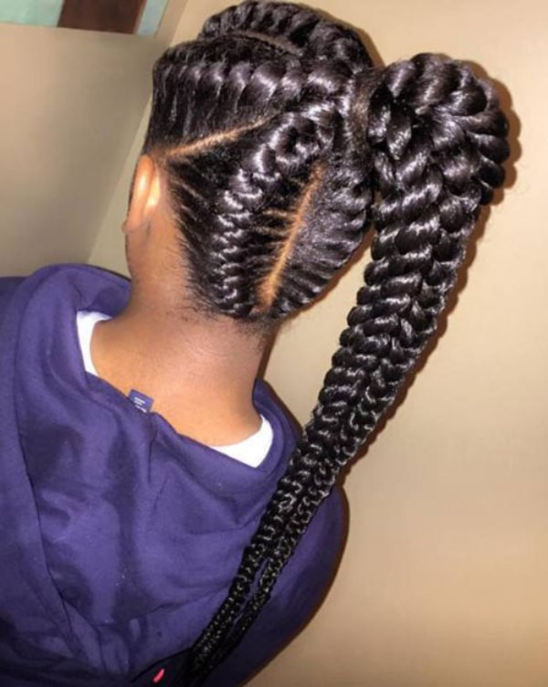 Best ideas about Braid Ponytail Hairstyles . Save or Pin 30 New Ideas for Black Braided Hairstyles 2018 Hairstyle Now.