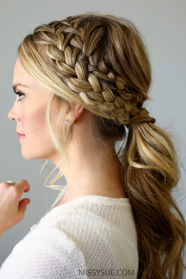 Best ideas about Braid Ponytail Hairstyles . Save or Pin Double Braided Ponytail Now.