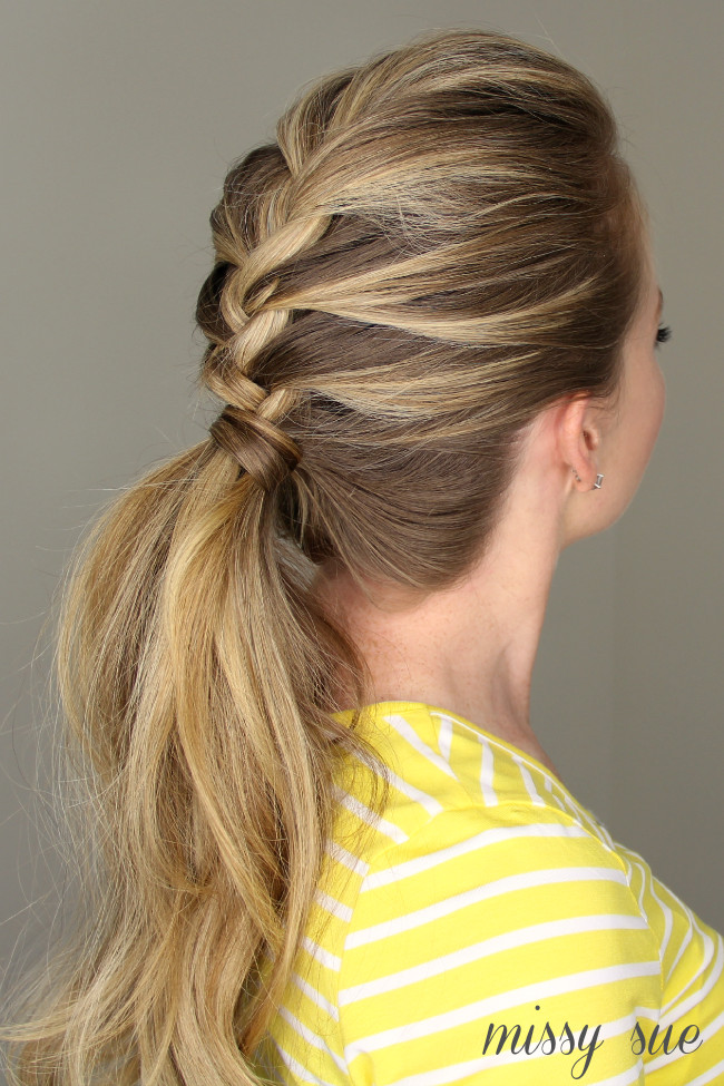 Best ideas about Braid Ponytail Hairstyles . Save or Pin French Braid Ponytail Now.