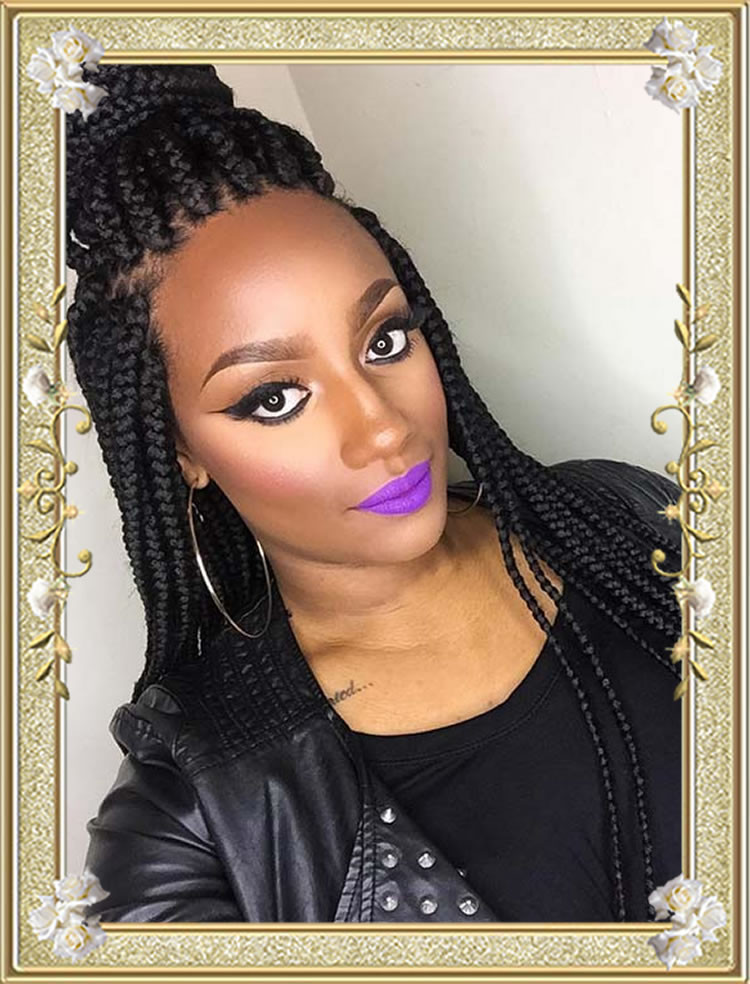 Best ideas about Braids Updo Hairstyles For Black Women . Save or Pin 60 Delectable Box Braids Hairstyles for Black Women Now.