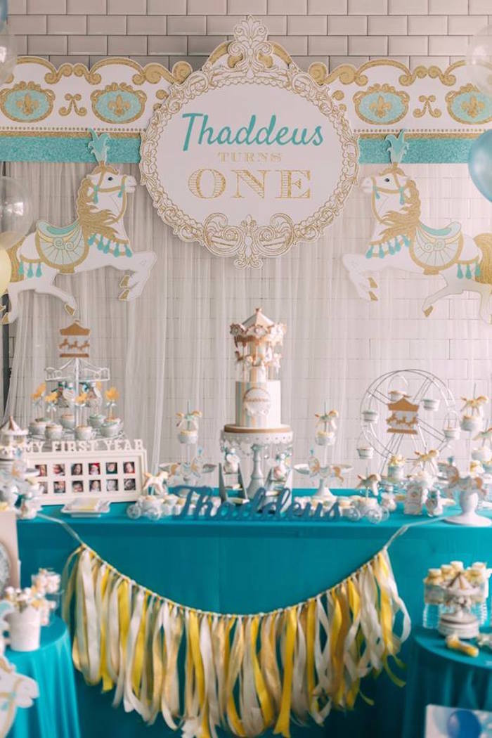 Best ideas about Carousel Birthday Party . Save or Pin Kara s Party Ideas Merry Go Round Carousel Birthday Now.