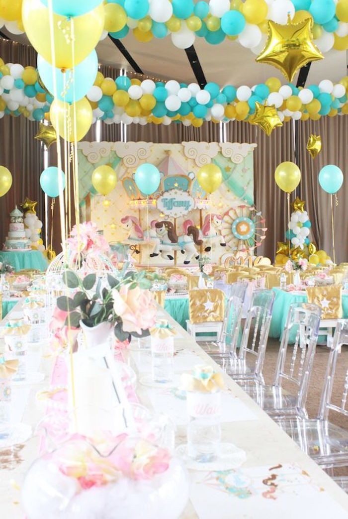 Best ideas about Carousel Birthday Party . Save or Pin Kara s Party Ideas Carousel Birthday Party Now.
