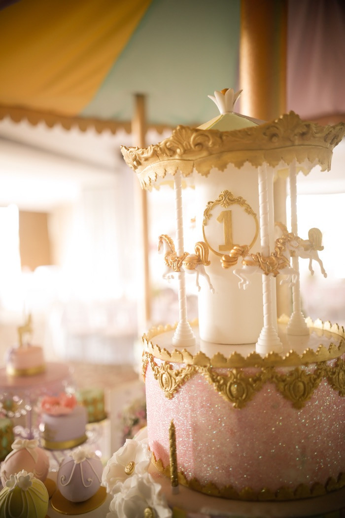 Best ideas about Carousel Birthday Party . Save or Pin Kara s Party Ideas Gold and Pastel Carousel Birthday Party Now.