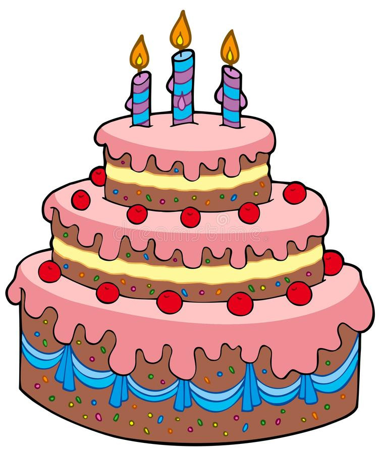 Best ideas about Cartoon Birthday Cake . Save or Pin Big cartoon birthday cake stock vector Illustration of Now.