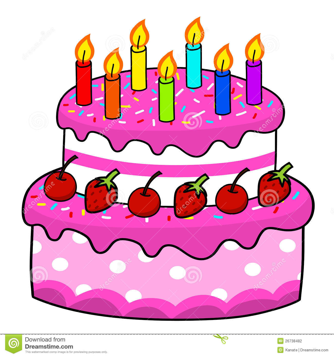 Best ideas about Cartoon Birthday Cake . Save or Pin Cartoon cake hand drawing stock vector Illustration of Now.