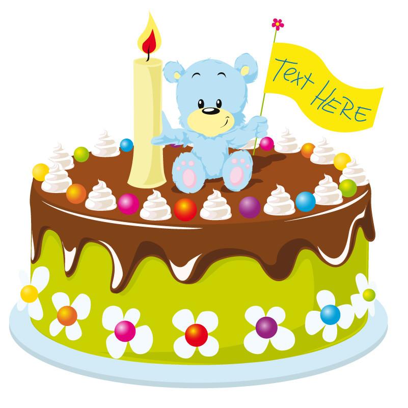 Best ideas about Cartoon Birthday Cake . Save or Pin Cartoon Bear Birthday Cake Vector Now.