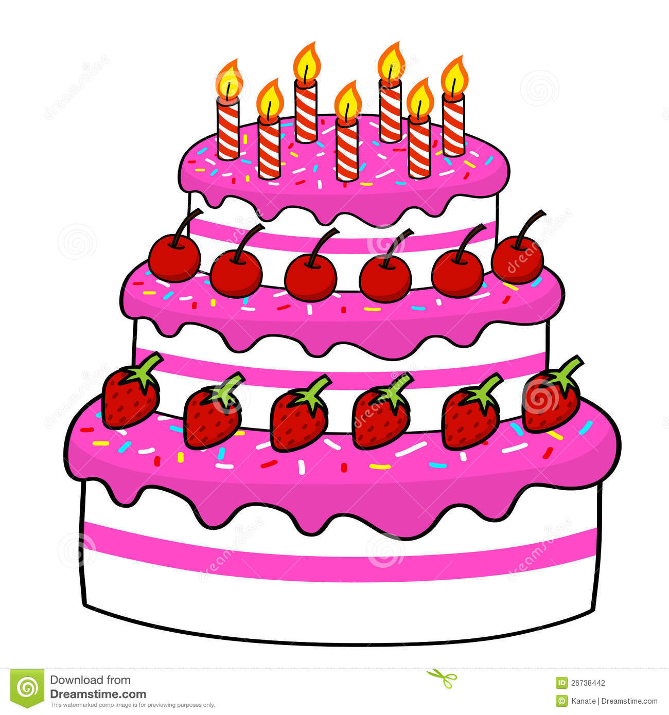 Best ideas about Cartoon Birthday Cake . Save or Pin Birthday Cake Drawing Cartoon at GetDrawings Now.