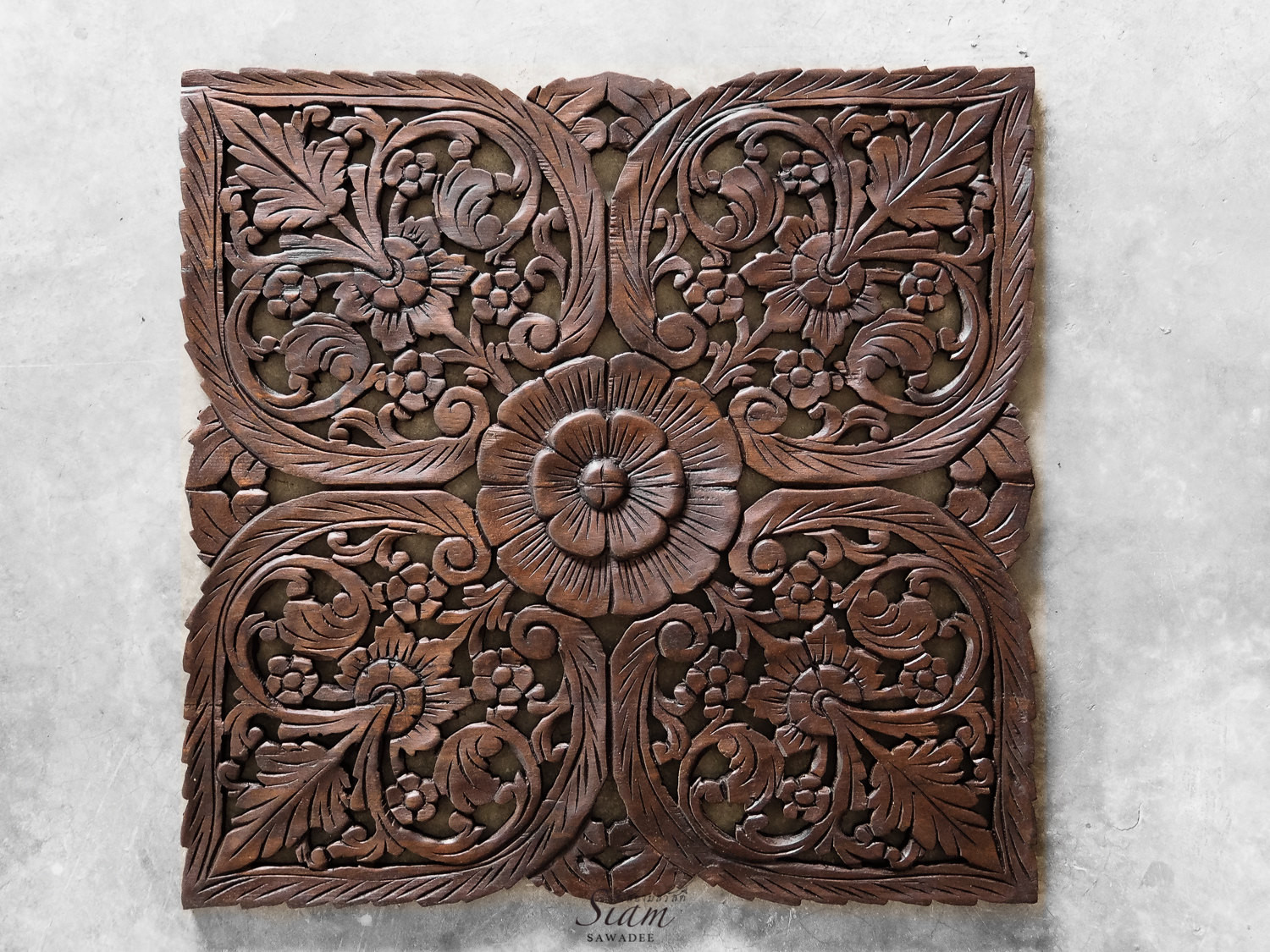Best ideas about Carved Wood Wall Art . Save or Pin Buy Thai Oriental Lotus Carved Wood Wall Art Decor line Now.