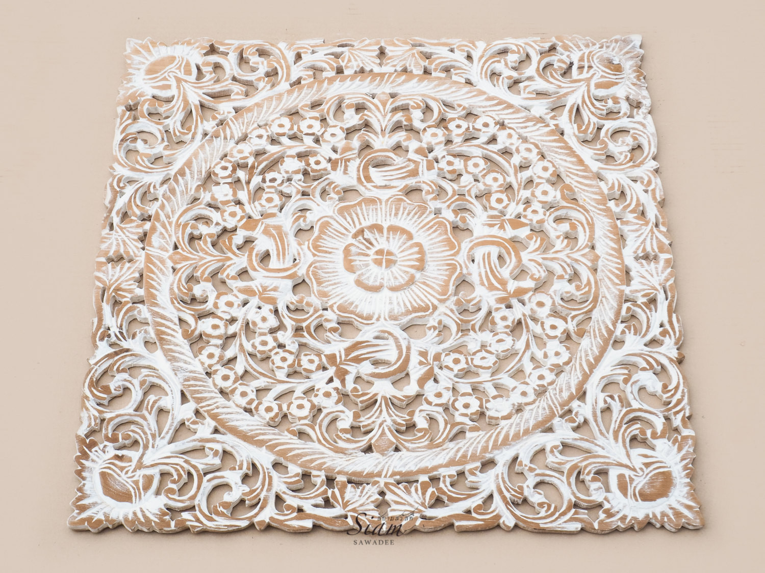 Best ideas about Carved Wood Wall Art . Save or Pin Buy Lotus Wood Carving Plaque Oriental Decor line Now.
