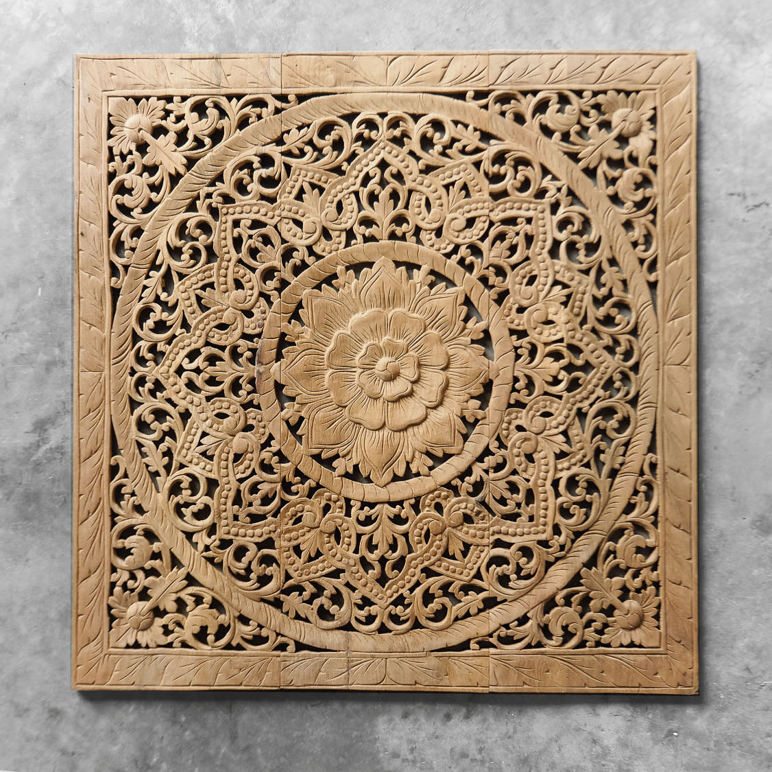 Best ideas about Carved Wood Wall Art . Save or Pin Buy Antique Lotus Wood Carving Wall Art Hanging line Now.