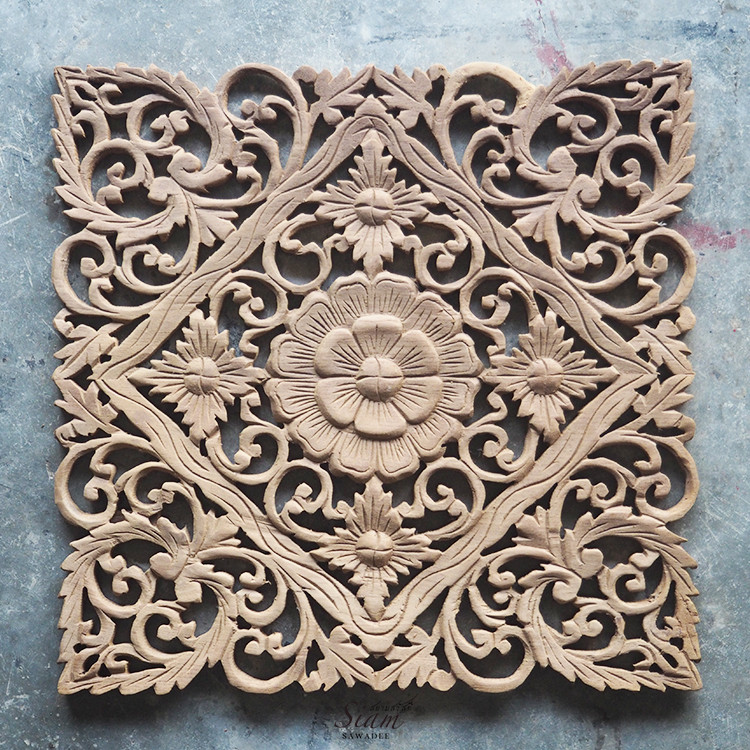 Best ideas about Carved Wood Wall Art . Save or Pin Buy Lotus Carved Wood Wall Art Panel from Bali line Now.
