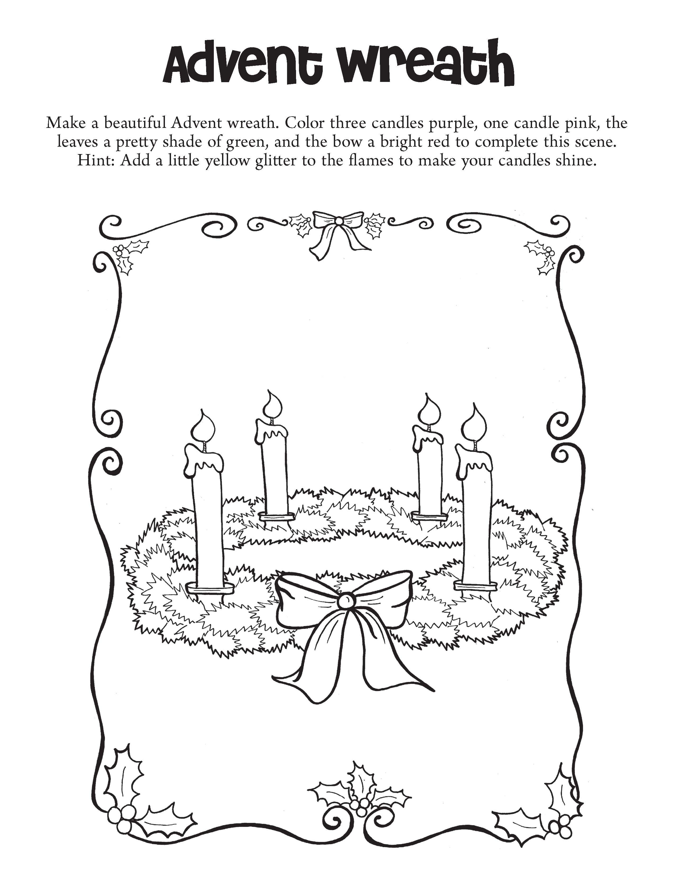Best ideas about Catholic Christmas Coloring Pages For Kids . Save or Pin Advent Wreath Coloring Page Pages For grig3 Now.