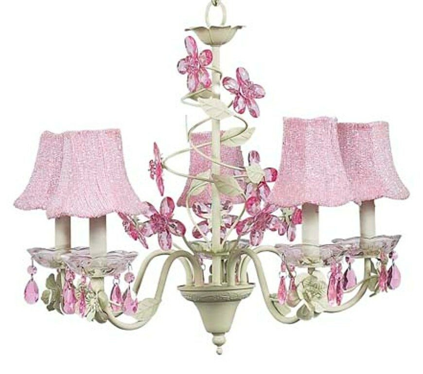 Best ideas about Chandeliers For Kids Room . Save or Pin Kids Room Crystal Flower Chandelier Light Fixture Nursery Now.