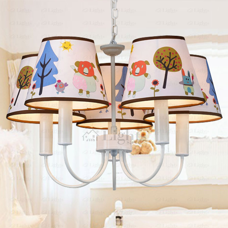 Best ideas about Chandeliers For Kids Room . Save or Pin Modern 5 Light Fabric Shade Chandelier For Kids Room Now.