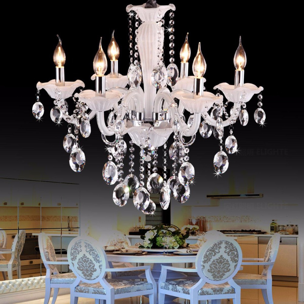Best ideas about Chandeliers For Kids Room . Save or Pin Cafe white mini chandelier Luxury bedroom 6 lights kids Now.