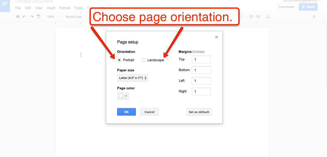 Best ideas about Change To Landscape In Google Docs . Save or Pin Free Technology for Teachers How to Create Google Now.