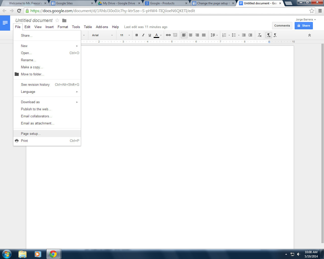 Best ideas about Change To Landscape In Google Docs . Save or Pin Change The Page Setup To Landscape Portrait Jorge S Now.