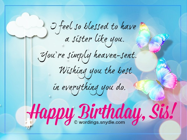 Best ideas about Christian Birthday Wishes For Sister . Save or Pin Sister Birthday Wishes Happy Birthday Wishes Now.