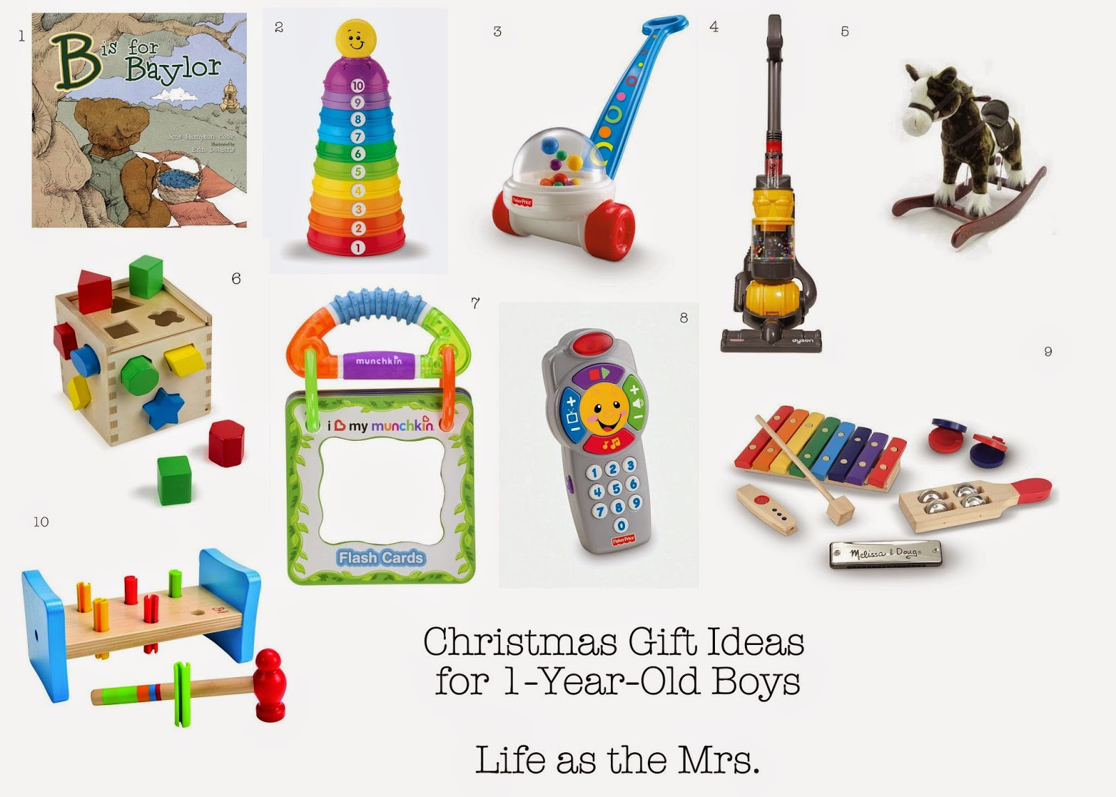 Best ideas about Christmas Gift Ideas For 1 Year Old Boys . Save or Pin Life as the Mrs Christmas Gift Ideas for e Year Old Boys Now.