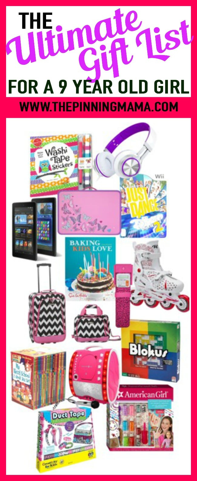 Best ideas about Christmas Gift Ideas For 9 Year Old Girl . Save or Pin The Ultimate Gift List for a 9 Year Old Girl Now.