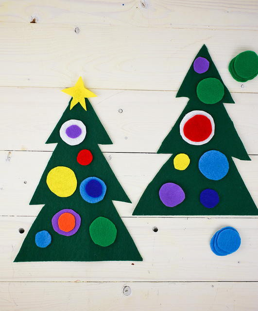 Best ideas about Christmas Projects For Preschoolers . Save or Pin Felt Christmas Tree Preschool Craft Now.