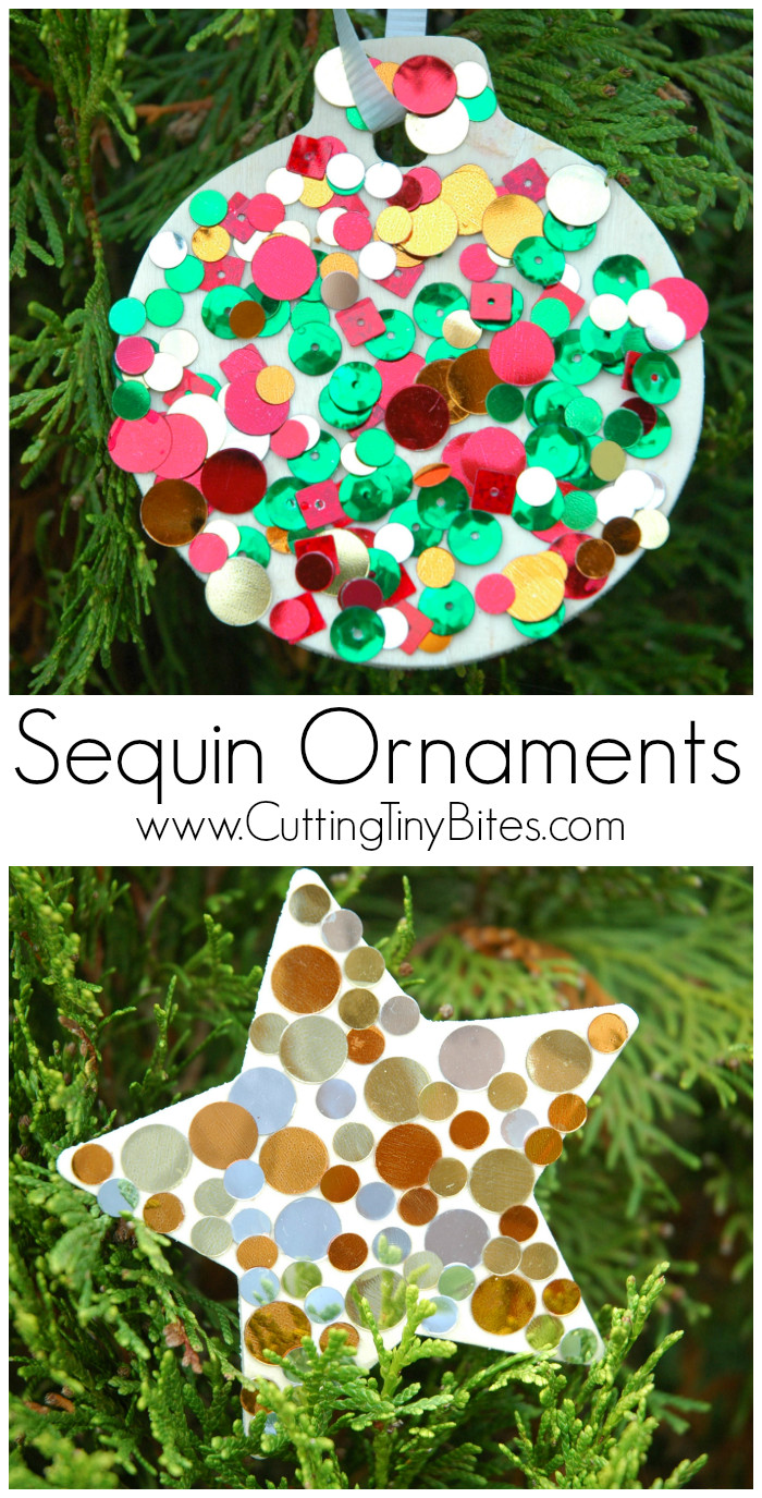 Best ideas about Christmas Projects For Preschoolers . Save or Pin Sequin Ornaments Now.