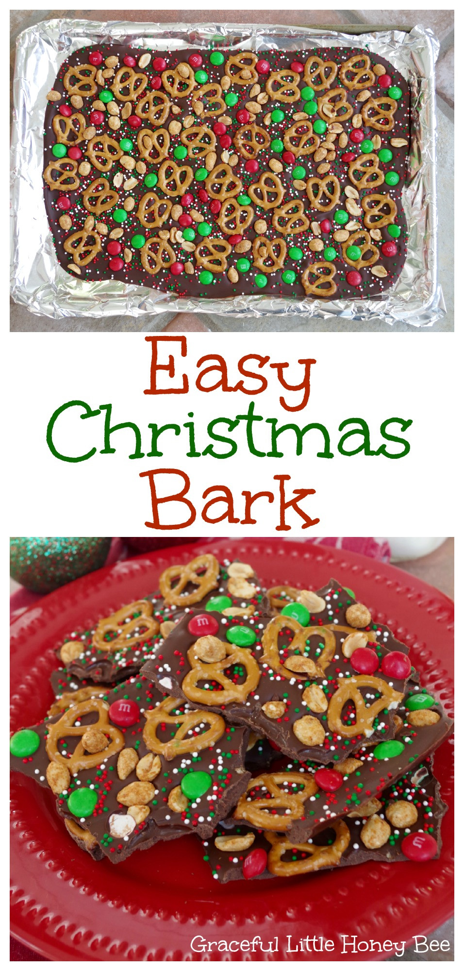 Best ideas about Christmas Treats DIY . Save or Pin Easy Christmas Bark Graceful Little Honey Bee Now.