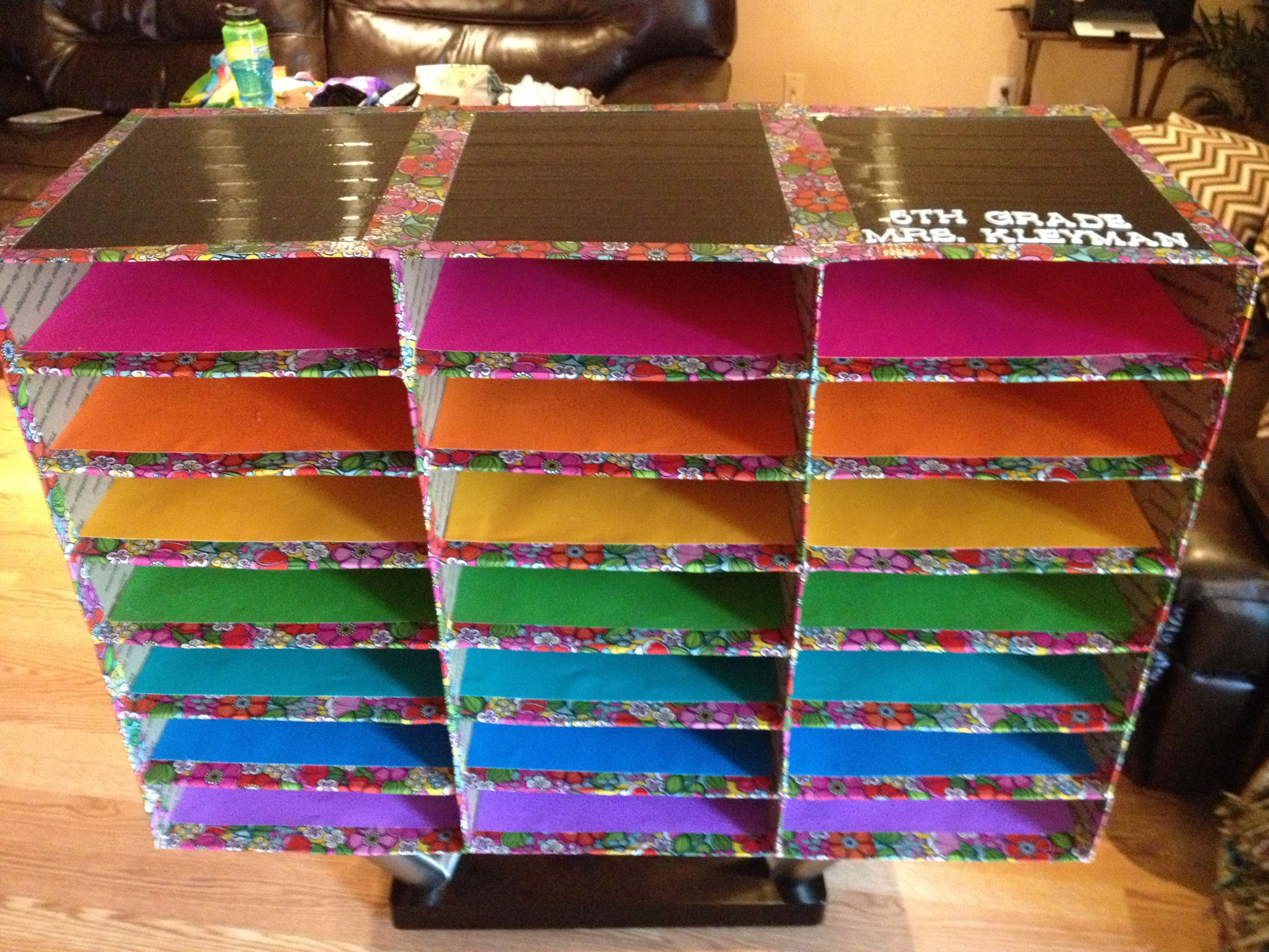 Best ideas about Classroom Mailboxes DIY . Save or Pin My DIY classroom mailboxes using flat rate shipping boxes Now.