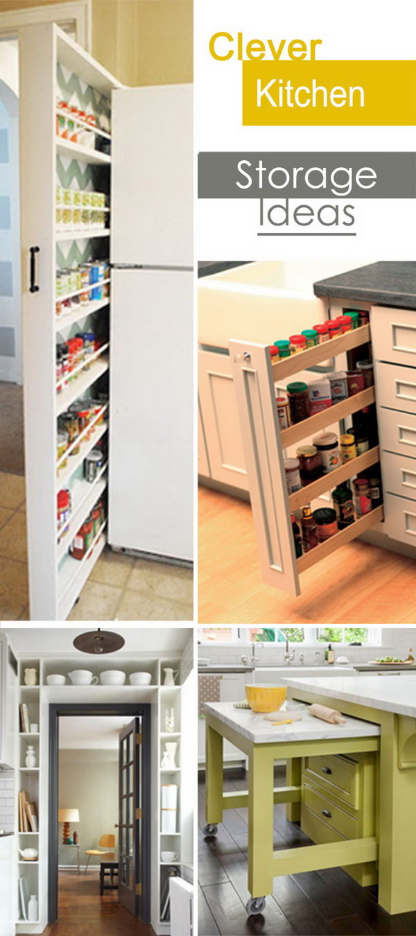 Best ideas about Clever Kitchen Ideas . Save or Pin Clever Kitchen Storage Ideas Hative Now.