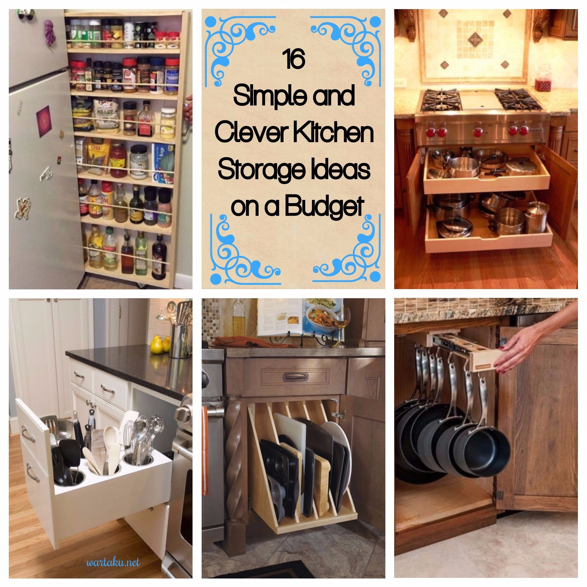 Best ideas about Clever Kitchen Ideas . Save or Pin 16 Simple and Clever Kitchen Storage Ideas on a Bud Now.
