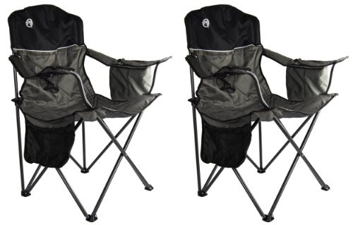 Best ideas about Coleman Oversized Quad Chair With Cooler . Save or Pin 2 COLEMAN Camping Outdoor Oversized Quad Chairs Coolers Now.