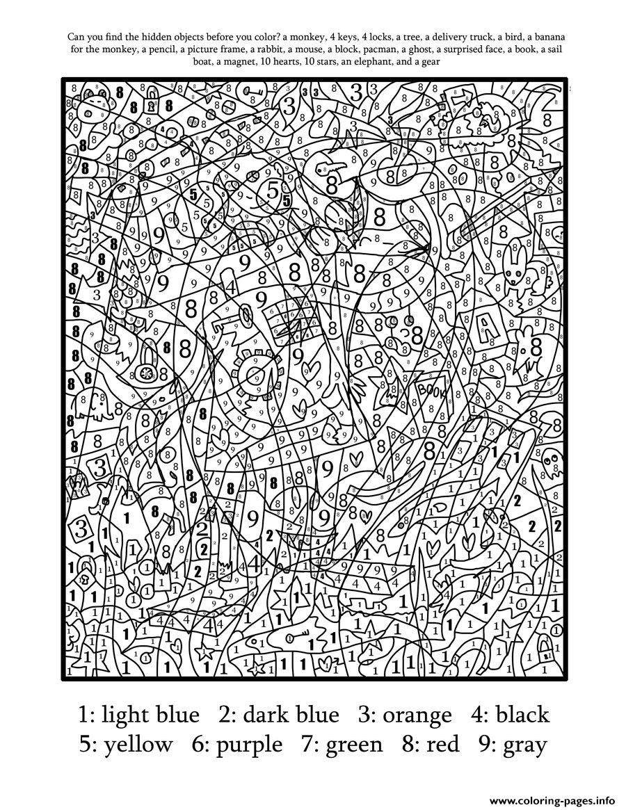 Best ideas about Color By Number Adult Coloring Books . Save or Pin Color By Number For Adults Hard Difficult Coloring Pages Now.
