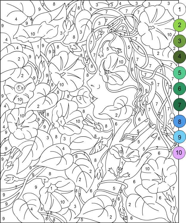 Best ideas about Color By Number Adult Coloring Books . Save or Pin Nicole s Free Coloring Pages COLOR BY NUMBER Now.
