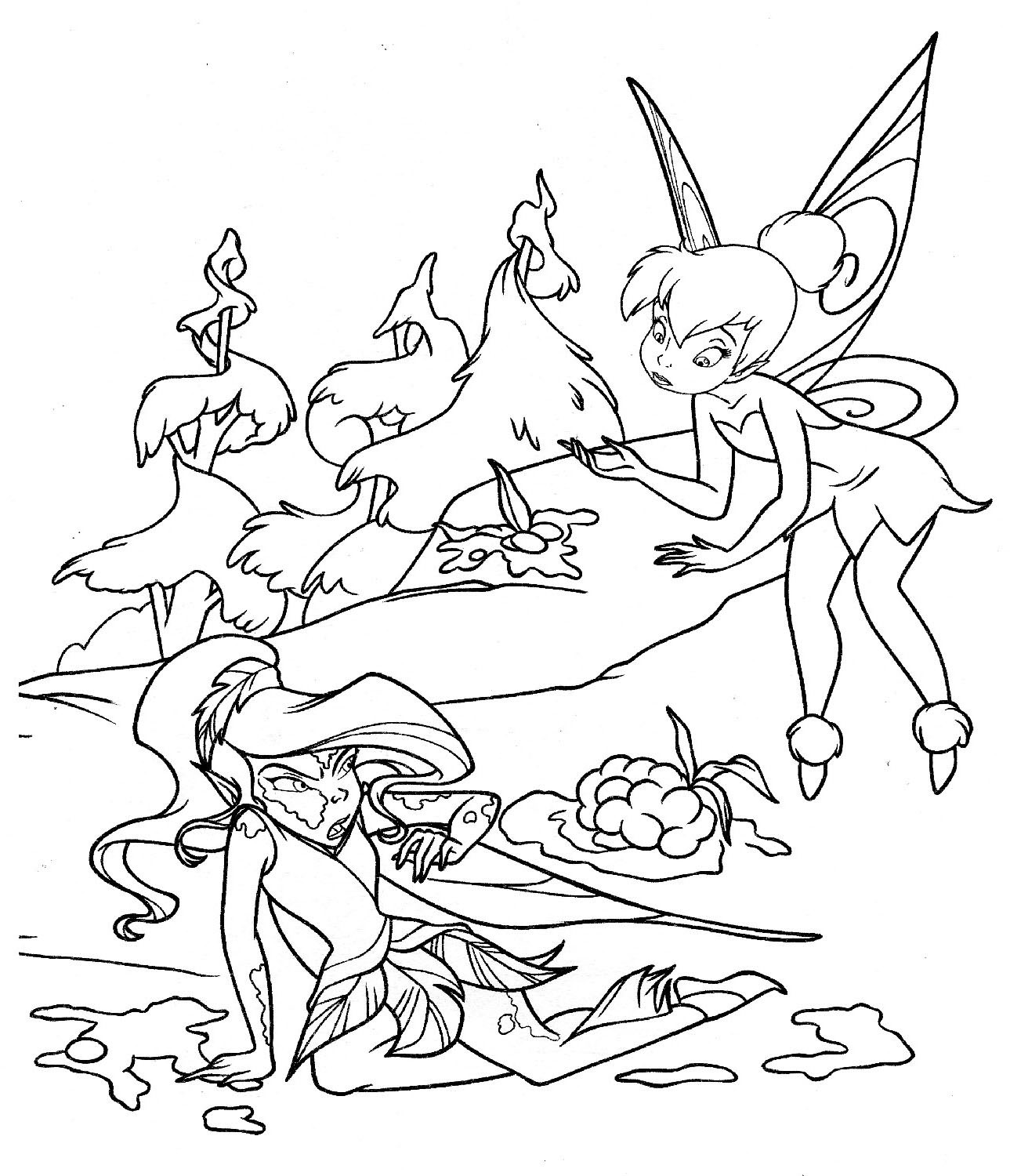 Best ideas about Coloring Book Pages Of Tinkerbell . Save or Pin Free Printable Tinkerbell Coloring Pages For Kids Now.