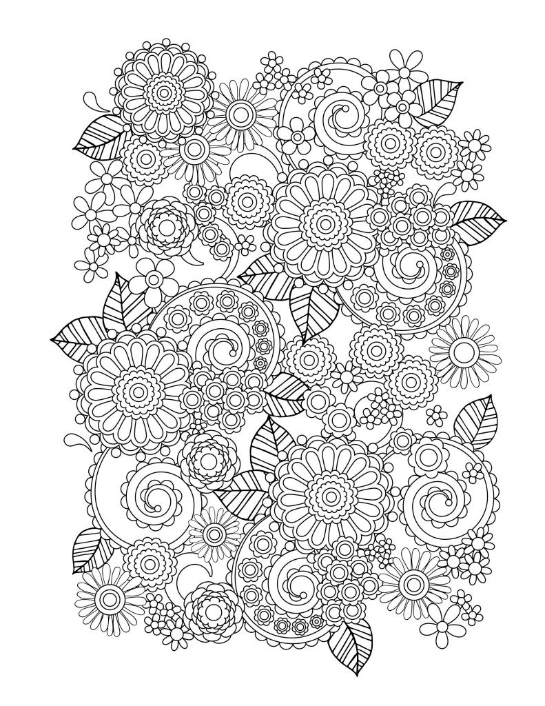 Best ideas about Coloring Books Adult . Save or Pin Flower Coloring Pages for Adults Best Coloring Pages For Now.