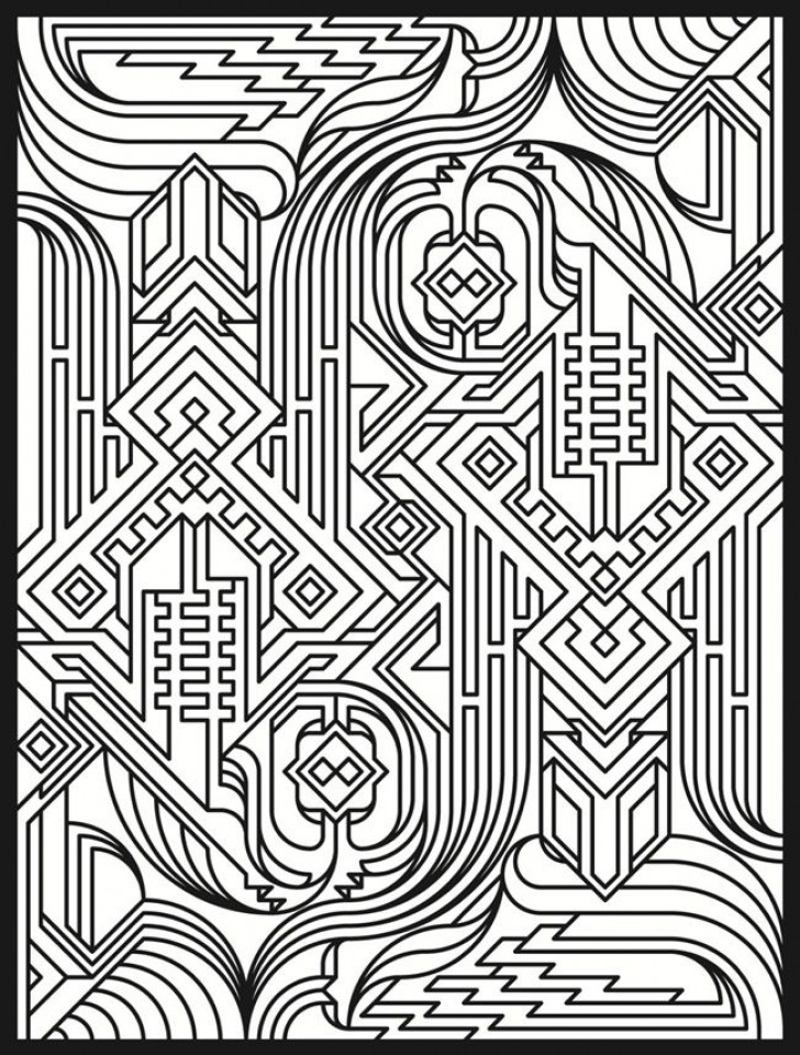 Best ideas about Coloring Pages For Adults Patterns . Save or Pin 20 Free Printable Art Deco Patterns Coloring Pages for Now.