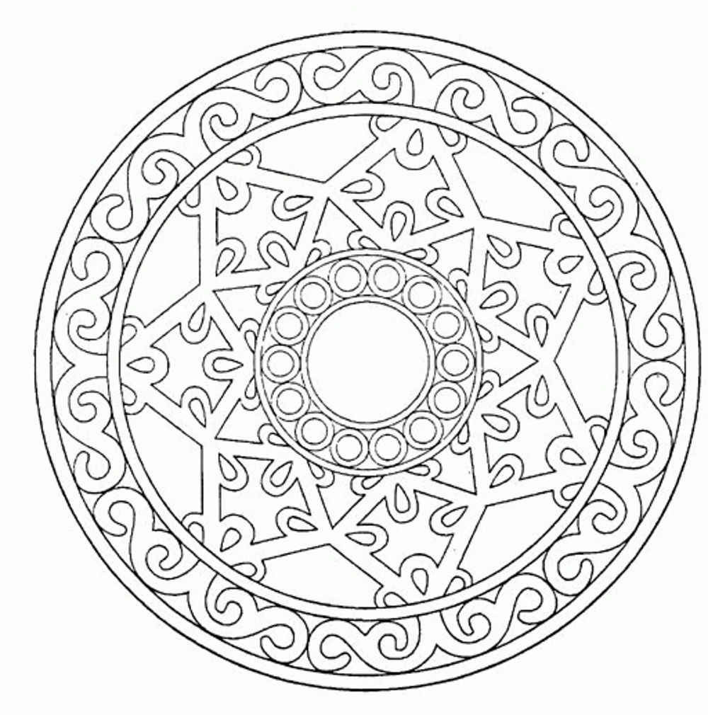 Best ideas about Coloring Pages For Adults Patterns . Save or Pin Many Geometric Pattern Coloring Pages for Adults Now.