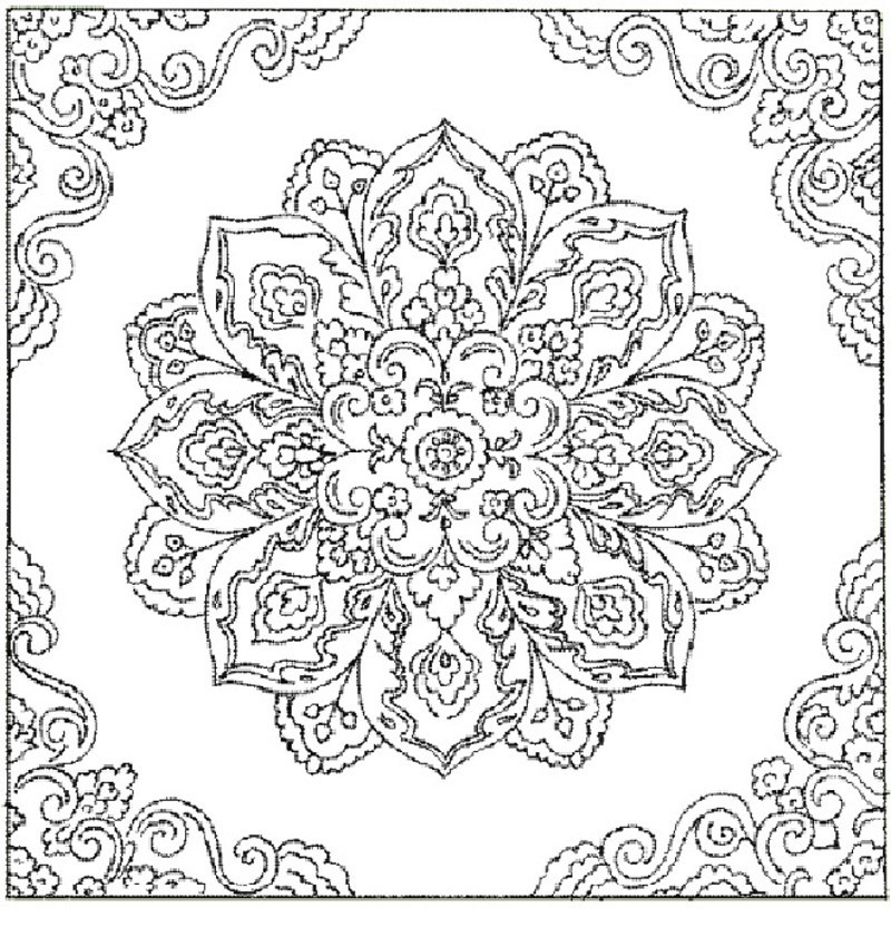 Best ideas about Coloring Pages For Adults Patterns . Save or Pin Free Printable Abstract Coloring Pages for Adults Now.