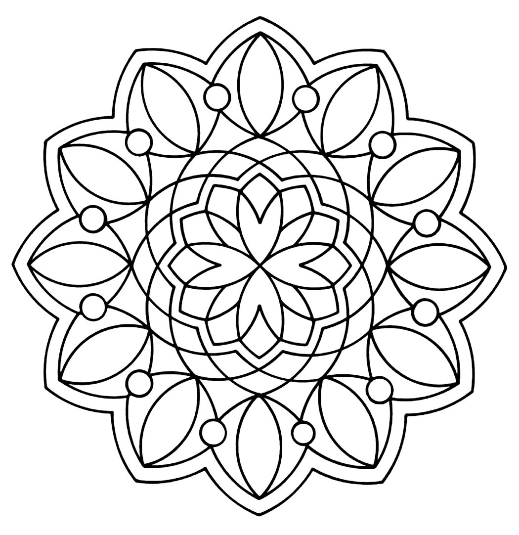 Best ideas about Coloring Pages For Adults Patterns . Save or Pin Free Printable Geometric Coloring Pages For Kids Now.